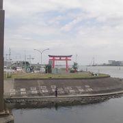 多摩川河口にあります