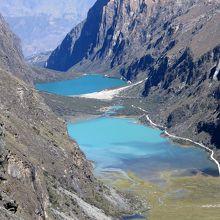Llanganuco(ジャンガヌコ)渓谷の美しい2つの湖