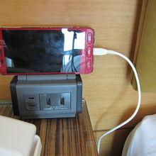 ベッドサイドのスマホ充電器が便利