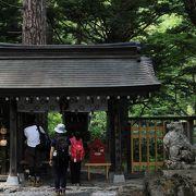 穂高神社の奥宮