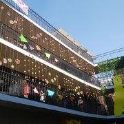 韓国らしい土産物店など並んでいます