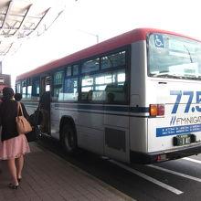 新潟交通のバスで駅へ