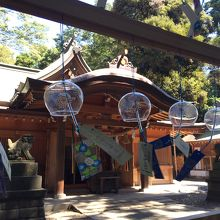 風鈴が風情ある神社です。