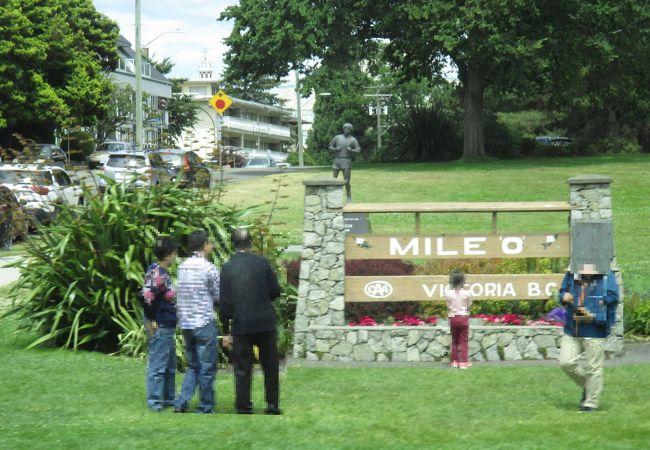 マイル ゼロの標識