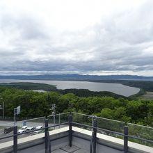 屋上の展望台 オホーツク海が見えます