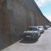 歩けます「城壁」ローテンブルク、ドイツ