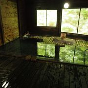 森の中の混浴露天風呂は素晴らしい