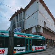 景色がみえる「トラム」市電フランクフルト、ドイツ