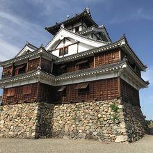 京都府の城跡巡り:福知山城跡、戦国期の天守閣