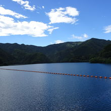 小河内ダムの近くの風景