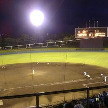 総合公園内の野球場