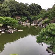 実際の水がある池と枯山水の池の2つがある