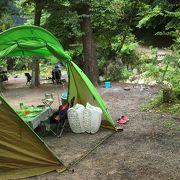 予約不要な自然を生かしたキャンプ場