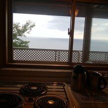 コテージ台所からの眺望