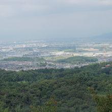 展望台からの京都盆地