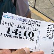 サレルノから船でアマルフィへ