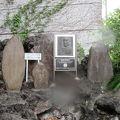 写真:オールコックの愛犬トビーの墓
