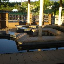 道の駅すばしりの2階には、足湯の施設があり、リラックスできる