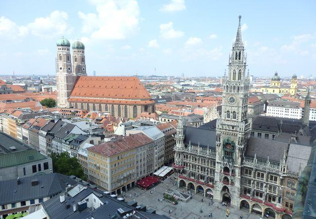 塔の上から見た、ミュンヘンの街並み