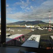 小さな空港 景色が綺麗