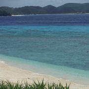 阿嘉島で一番有名なビーチ