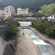 下呂温泉沿い