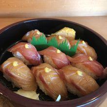 ちょっと雰囲気いい栄寿司で島寿司を