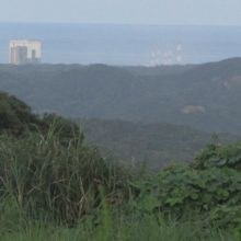 7km先に宇宙センターが見えます