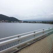 河口湖の橋