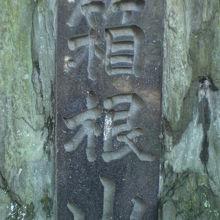箱根山の標識です。徳川尾張藩の屋敷の日本庭園の副産物です。