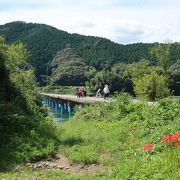 河口に近く長い、佐田沈下橋 ♪