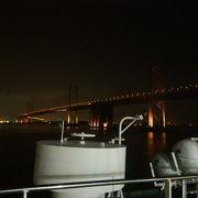 名門太陽フェリーから見た瀬戸大橋