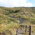 写真:割れ目噴火口跡
