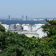 福岡市内と博多湾