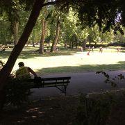 大英博物館のすぐ前にある広い公園です。