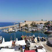 北キプロスの港町