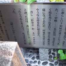 夏目漱石の作品の中で、生家について記述している文章の碑です。