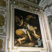 カラヴァッジョやベルニーニの作品があることで有名な教会