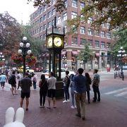 ギャスタウンの時を刻む歴史ある時計