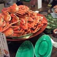 夕食バイキングの蟹さん