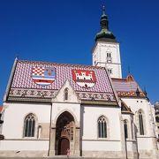 屋根が可愛い教会です