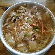 (万来)一番人気の万来麺は、麺の量が凄く広東風のとろみが半端ないです。
