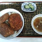 (吉原食堂)ソースカツ丼のカツは、食べやすい大きさでサクサクで美味しかったです。
