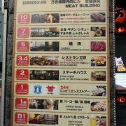 肉の万世 秋葉原本店の夕食