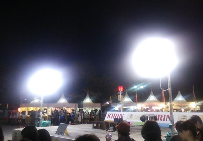 2018年11月2日の場合、パフォーマンススポットが多いせいか呉服町通りの会場よりは駿府城公園の会場のほうが見やすかったです