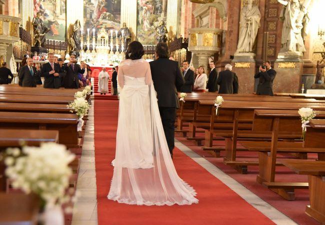 結婚式をしていました
