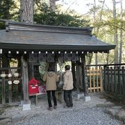 河童橋から1時間、小さな拝殿