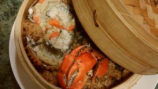 蟹のおこわ、美味!