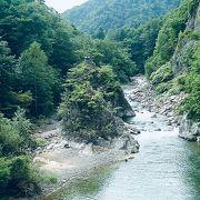 定山渓の渓谷を見れます