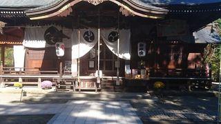 寒河江市の中心部にある大きな神社